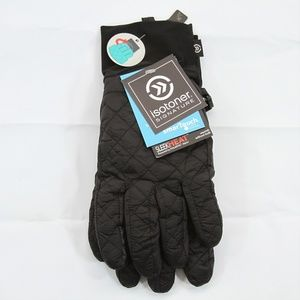 Isotoner Signature Men's Quilted Gloves Blk S/M